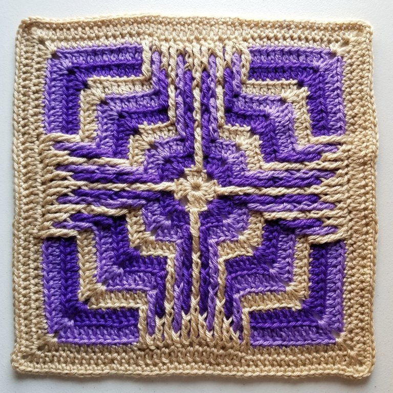 Star Portal Afghan Square - If you're thinking of starting a crochet blanket and want to give it that extra touch of 'oomph' - using any of these crochet squares might be the thing you need! #crochetsquares #afghansquares #crochetpatterns