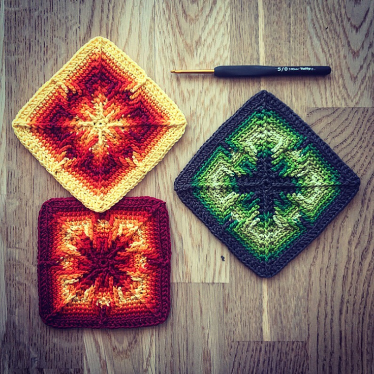 The Nomad by Fate Square - If you're thinking of starting a crochet blanket and want to give it that extra touch of 'oomph' - using any of these crochet squares might be the thing you need! #crochetsquares #afghansquares #crochetpatterns