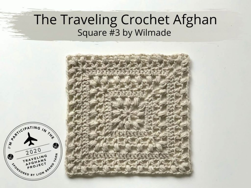 Traveling Crochet Afghan Square - If you're thinking of starting a crochet blanket and want to give it that extra touch of 'oomph' - using any of these crochet squares might be the thing you need! #crochetsquares #afghansquares #crochetpatterns